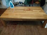 solid wooden coffee table to sell, price negotiable