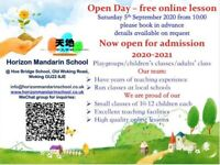 Free online Mandarin trial sessions on Saturday 5th September