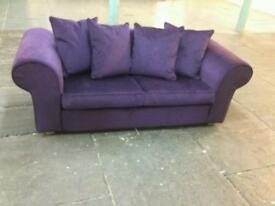 Ex display anita sofa bed in purple only £150