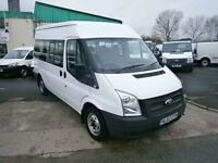Ford Transit T300 Shuttle 9 Seat Minibus 125ps DIESEL MANUAL WHITE (2012)