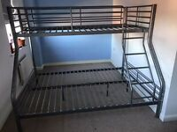 Triple bunk bed frame. VGC.