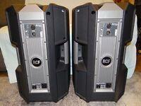 "RCF Art722-AS Active 12"" speakers"