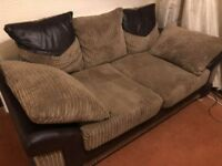 Sofa 3 + 2 seater brown sofa, excellent condition, from a smoke/ pet free home £150
