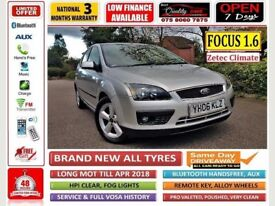 2006 *** 68,000 miles *** FORD Focus 1.6 New MOT, ONE FAMILY OWNED, ALL BRAND NEW TYRES***