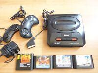 Sega Mega Drive II + 5 Games + 2 Joypads