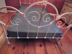 Wrought Iron+Brass Bed Frame