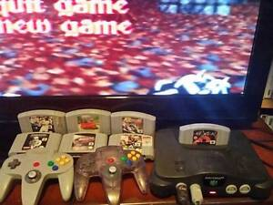Nintendo 64, 7x games, 2x controls, N64 Brassall Ipswich City Preview