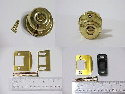 Schlage F51 A GEO 505 Bright Polished Brass Georgian Keyed Entry Door Knob Parts Georgian Polished Brass