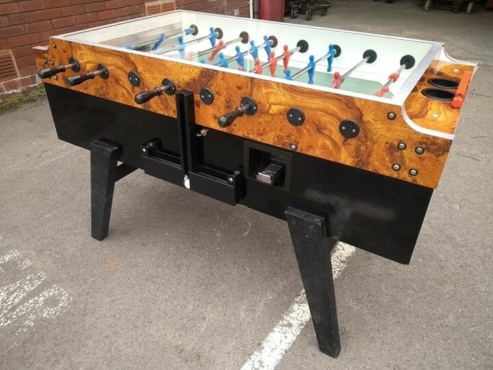 Used Italian Garlando Foosball Football Table Coin Operated Free - Italian foosball table
