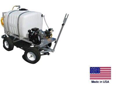 Sprayer Commercial - 4 Wheel Trailer Mounted - 100 Gallon Tank - 6 Gpm - 290 Psi
