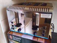 russell hobbs 4 slice toaster brand new in box buckingham