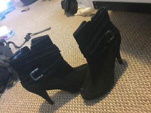 Size 8 Suede high heeled boots