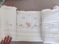 Little Bird by Jools Olivier cot bed bumper and pockets