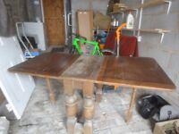 Antique Oak gate leg table