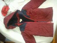 Boys red coat age 6 - 7
