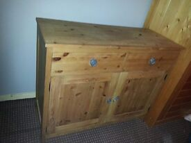 40. 00 today collect..SOLID WOOD PINE, cabinet with drawers