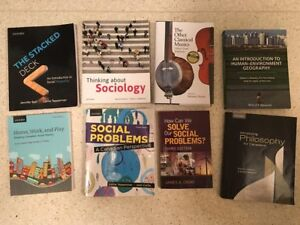 Textbooks: Sociology, History, Music, Geography