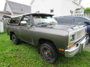 1988 Dodge RamCharger AS IS