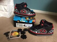 Kids Heeleys with box and accessories - Size UK 11