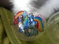 Kids personalised 10cm glass baubles