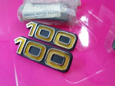 Yamaha DX100 YB100 Emblem Side Cover 2N3-21786-01 GENUINE NOS 1pair for sale  Shipping to United States