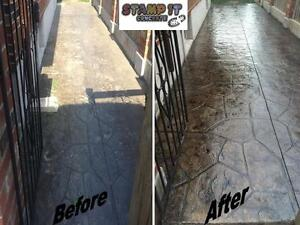 Stamped Concrete Resealing / Restoration And More! London Ontario image 8