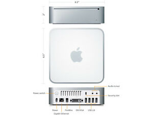 Mac Mini Core Duo - 1.66GHz, 1GB RAM, 60GB HDD