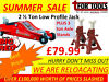 Torrin Big Red 2 tonne Low entry jack / Axle Stands / Sealey Low Entry Trolley jack Lurgan Just Off M1 Junction 10, Belfast