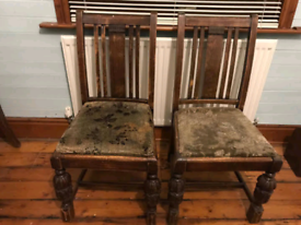 ANTIQUE CHAIRS. NEEDS SOME TLC.