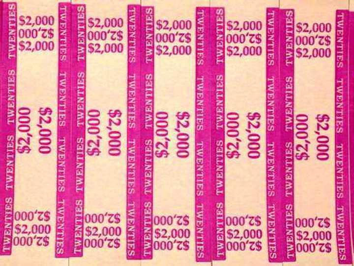 25 - Violet $20 Self-Sealing Currency Bands $2,000 Cash Money Straps For Twenty