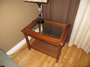 COFFEE & 2 END TABLES WITH GLASS TOP - Free delivery to address
