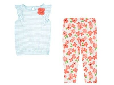 Gymboree Cherry Blossom Blue Striped Tee & Floral Flower Leggings Set 3T NEW NWT Cherry Blossom Tee-set