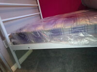 BRAND NEW single bed frame and BRAND NEW mattress