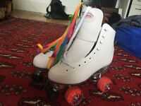 Rookie Retro Roller Blades - Size 5 - Rainbow/white laces