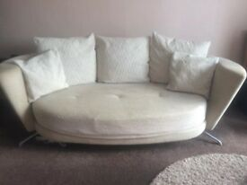 Fama designer living room furniture. Large sofa with two swivel chairs and two footstools