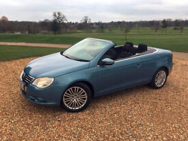 £2500 ~ 2008 (58) VW EOS 2.0 TDI - Convertaible Light Blue 120K
