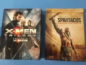 DVDs X-Men trilogy & Sparticus Gods of the Arena