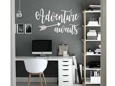 ADVENTURE AWAITS Vinyl Wall Art Decal Sticker Decor Lettering Quote Wanderlust