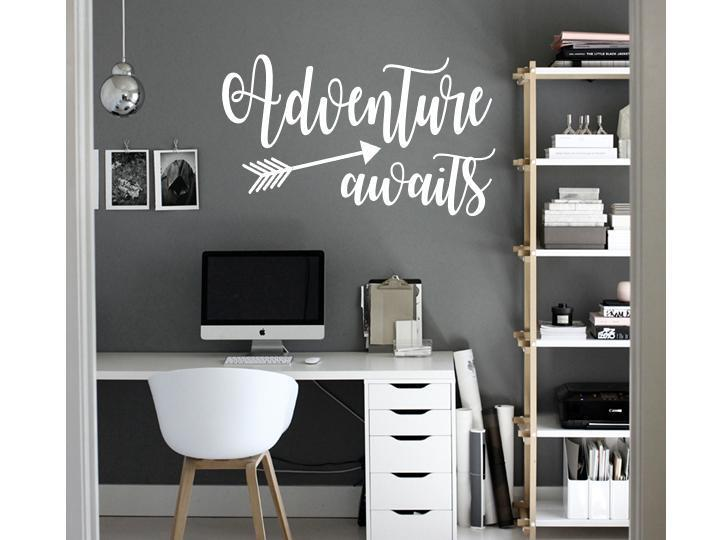 ADVENTURE AWAITS Vinyl Wall Art Decal Sticker Decor
