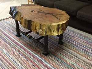 Moving Sale: Live Edge Oak Coffee Table