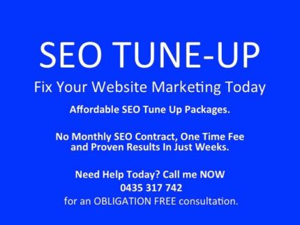 One Time Only Fee SEO – Tune-Up Package