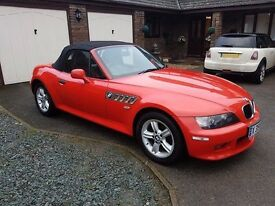 2001 BMW Z3 2.2 SPORT ROADSTER 2D 168 BHP Red Black Leather Convertable RARE