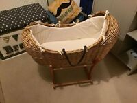 Mothercare The Snug Moses Basket & Rocking Stand