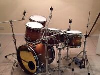 SJC USA Custom Drum kit (HUGE!!) with matching snare and cases