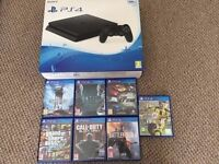 Playstation 4 PS4 Slim 500gb + 7 games MINT condition