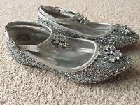 Monsoon Girls Glitter Jewelled Shoes (Size 13)