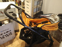 Uppababy pushchair, carry cot and rumble seat