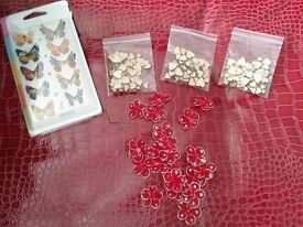 All new butterfly's red flowers, and 3 bags of heart's