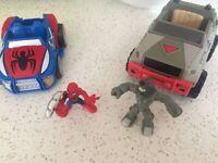 Playskool Spider-Man vs Rhino vehicle playset