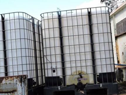 TWO IBC 1000 LTR CONTAINERS